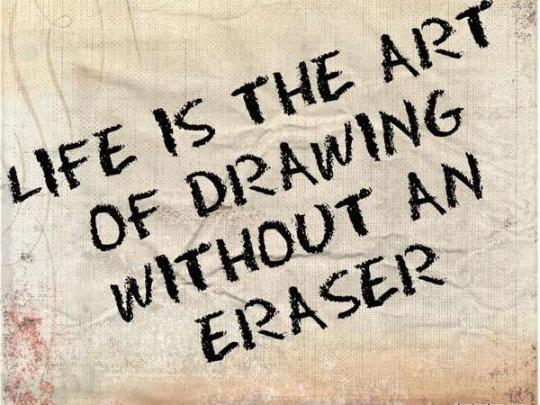 زندگی هنر طراحی بدون پاک کن است