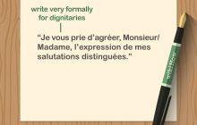 نحوه نوشتن نامه رسی به زبان فرانسه